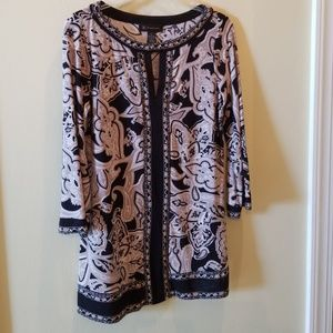 INC International Concepts Tunic Top Size M